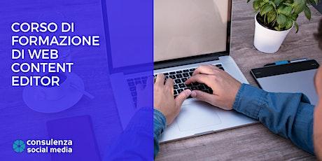 Corso Web Content Editor a Genova: come comunicare in modo efficace sul web biglietti