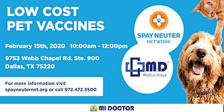 Low Cost Pet Vaccines tickets