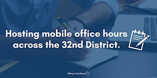 Rep. Colin Allred's Mobile Office Hours -  Dallas