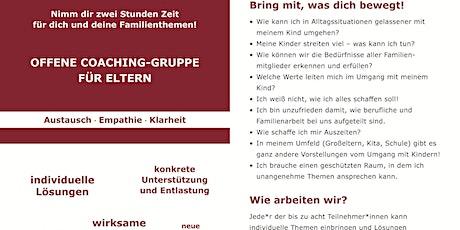 Offene Coaching-Gruppe für Eltern Tickets