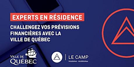 Challengez vos prévisions financières avec la Ville de Québec — Experts en résidence du CAMP billets