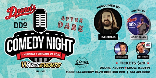 Comedy Night at Dunn's DDO: Headlined by Pantelis