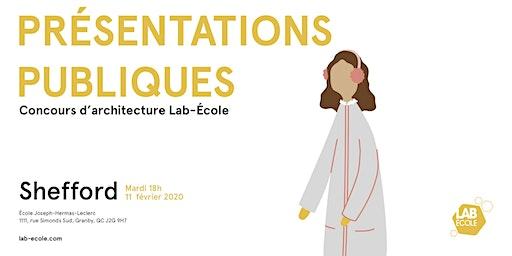 Présentation publique du concours d'architecture - Lab-École Shefford