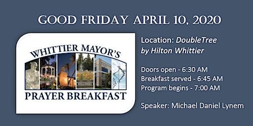 Whittier Mayor's Prayer Breakfast