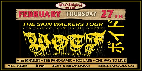 Wall of the Fallen + MNMLST w/ The Panoramic + Fox Lake + One Way To Live tickets
