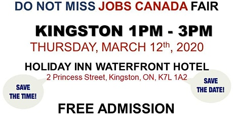 Kingston Job Fair – March 12th, 2020 tickets