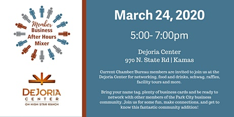 Members Only Business After Hours Mixer: Dejoria Center tickets