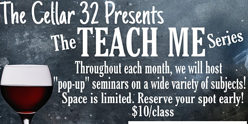 The Cellar 32 TEACH ME Seminar/InstaPot