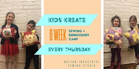 Kids Kreate: 6 week Sewing Camp tickets