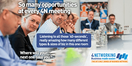 4N Business Networking Lanarkshire Breakfast 5th March 2020 tickets