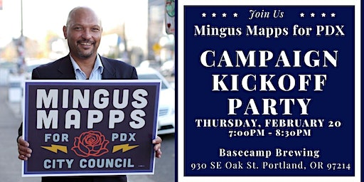 Mingus Mapps Campaign Kickoff Party