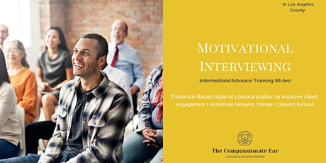 Motivational Interviewing - Intermediate Training tickets