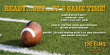 Elms Big Game Watch Party! tickets