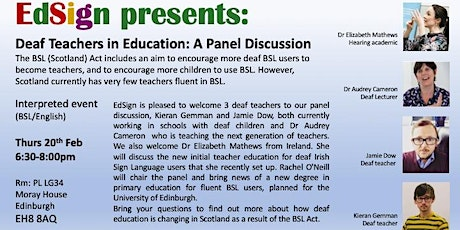Deaf Teachers in Education: A Panel Discussion tickets