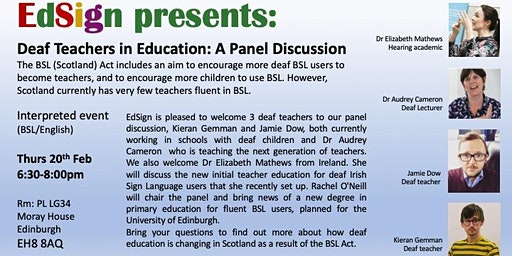 Deaf Teachers in Education: A Panel Discussion