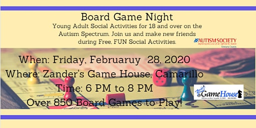 Autism Society VC Young Adult Game Night