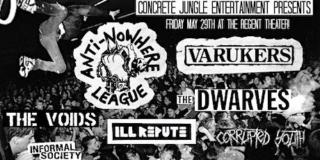 Anti-Nowhere League + The Varukers tickets