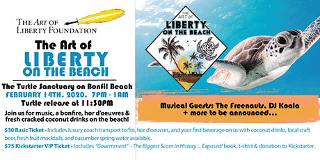 The Art of Liberty on the Beach - Turtle Party boletos