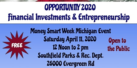 Opportunity 2020 - Financial Investments & Entrepreneurship tickets