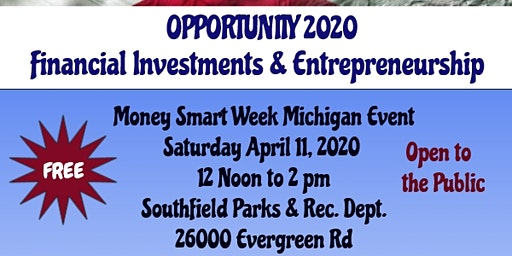 Opportunity 2020 - Financial Investments & Entrepreneurship