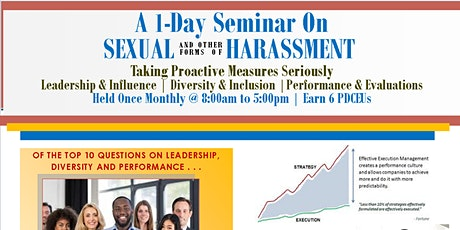 A 1-Day Workshop For Leadership On Sexual & Other Forms of Harassment tickets