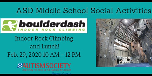 Autism Society VC Middle School Indoor Rock Climbing