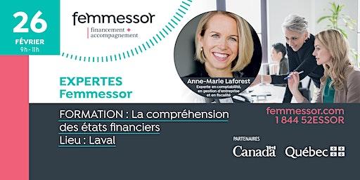 FORMATION | La compréhension des états financiers | Laval