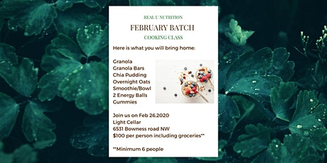 February Batch Cooking - Breakfasts and snacks tickets
