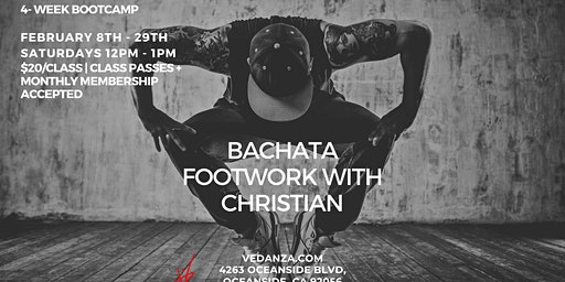 Bachata Footwork Bootcamp - 4 Weeks