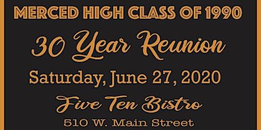Merced High School Class of 1990 30 Year Reunion
