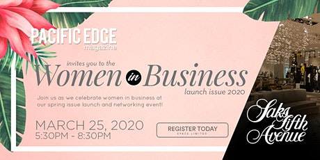Pacific Edge Women in Business Issue Launch 2020 tickets