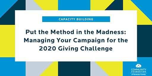 Managing Your Campaign for The 2020 Giving Challenge