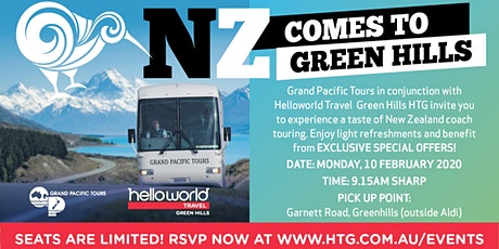 NZ Comes to Green Hills with Grand Pacific Tours at our FREE Travel Events! tickets