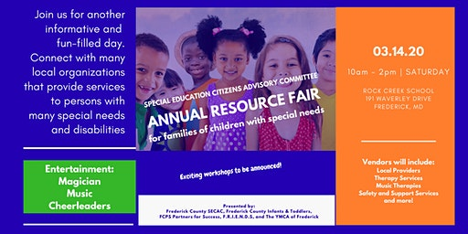 SECAC Annual Resource Fair - For Families of Children with Special Needs