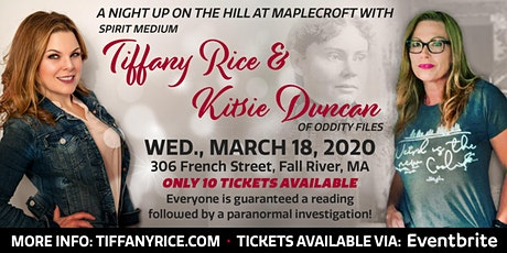 A Night Up On The Hill At Maplecroft with Tiffany Rice & Kitsie Duncan tickets