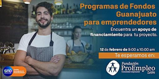 Programas de Fondos Guanajuato para emprendedores