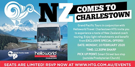 NZ Comes to Charlestown with Grand Pacific Tours at our FREE Travel Events! tickets