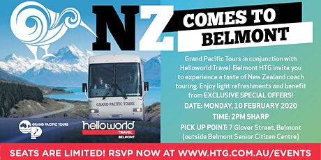 NZ Comes to Belmont with Grand Pacific Tours at our FREE Travel Events! tickets