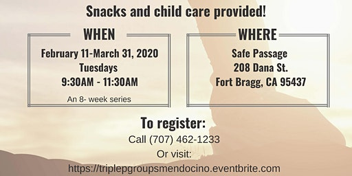 Triple P Parenting Group - FORT BRAGG [February 11 - March 31, 2020]