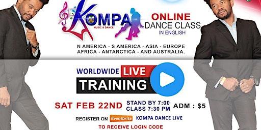 KOMPA DANCE CLASS ONLINE LIVE - IN ENGLISH