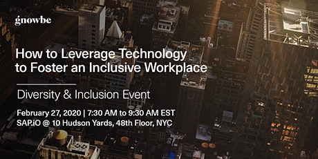 How to Leverage Technology  to Foster an Inclusive Workplace tickets