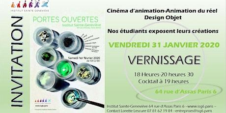 Vernissage Exposition Éphémère Institut Sainte-Geneviève billets