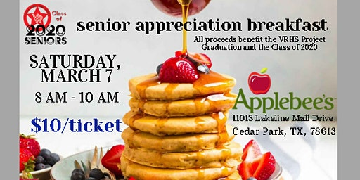 VRHS Senior Appreciation Breakfast at Applebee's Lakeline