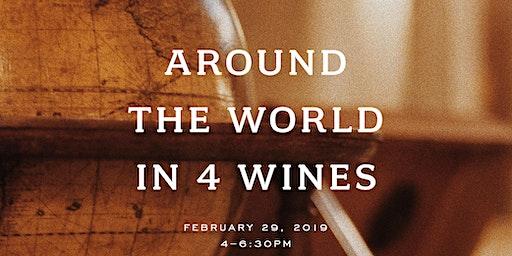 Around the World in Four Glasses at Canoe Ridge