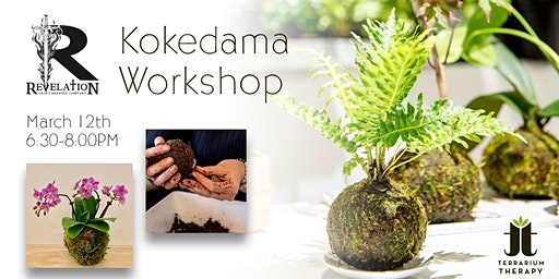 Orchid and Jade Kokedama Workshop at Revelation Brewing Company
