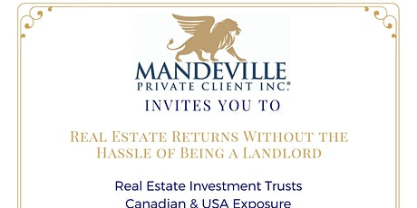 Real Estate Returns Without the Hassle of Being a Landlord tickets