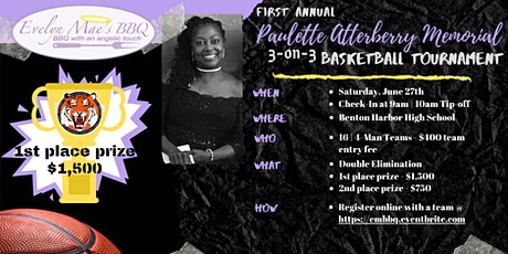Paulette Atterberry Memorial 3-on-3 Basketball Tournament tickets