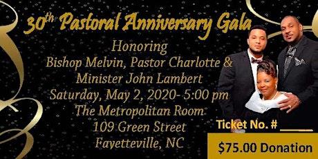 Lamberts' 30th Pastoral Anniversary Gala tickets