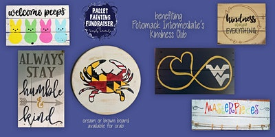 Pallet Painting Fundraiser benefiting Potomack Intermediate's Kindness Club