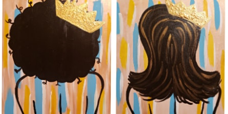 "Swannluv Creations Paint Party ""Crowned Beauty"""